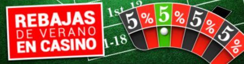 Aprovéchate de un 5% de descuento en tus tiradas en el casino Golden Park
