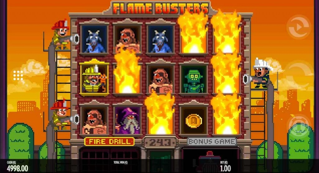 bulding on fire flamebusters gameplay