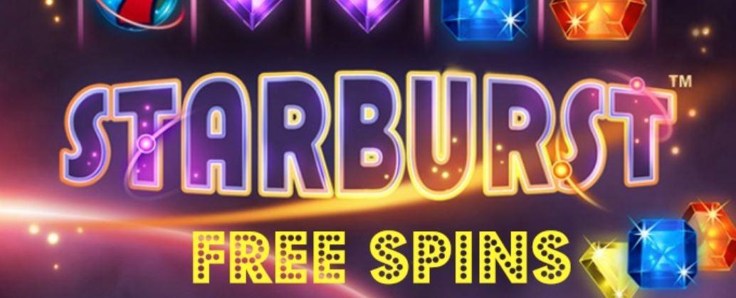 Få free spins på Starburst uten innskudd!