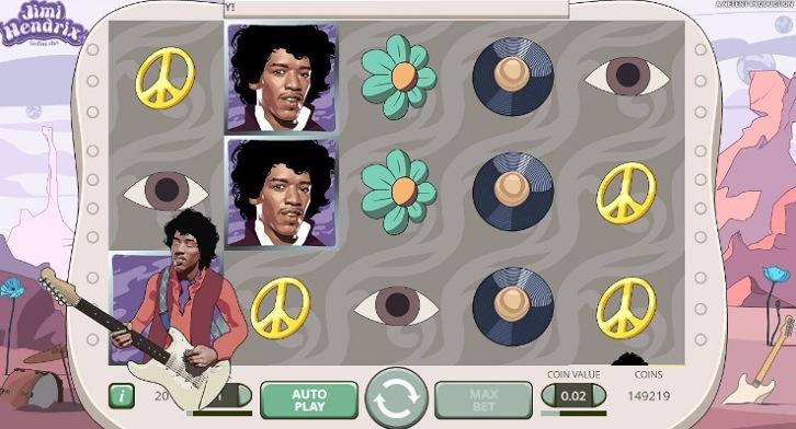 Vinn free spins på Jimi Hendrix