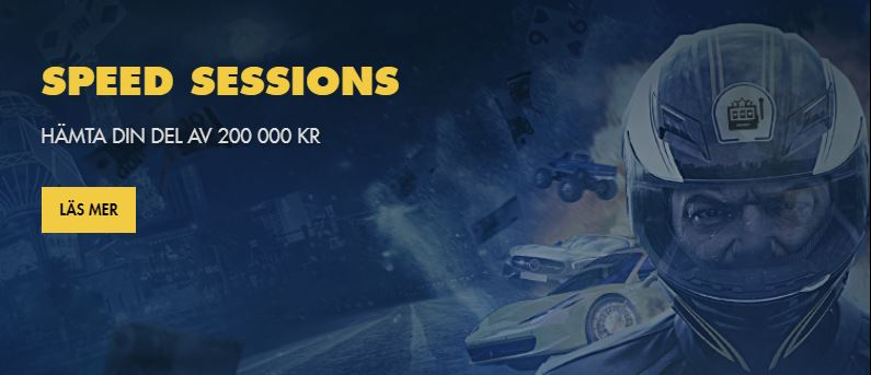 BetHard speed sessions kampanj med 200.000 kr i prispott
