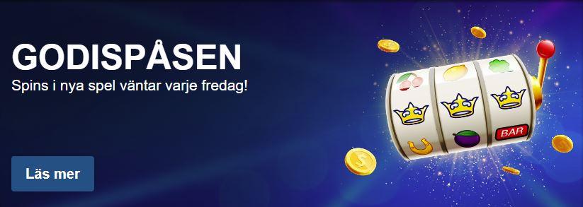 Omsättningsfria free spins till helgen hos SverigeKronan