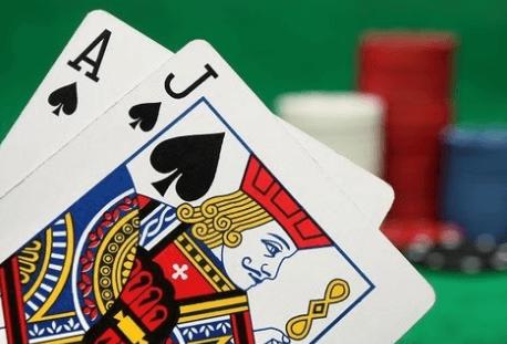 Blackjack hand med kort